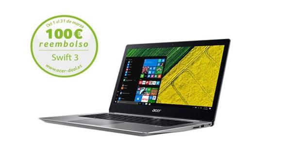 Promocion AcerSwift 3 100 euros de reembolso