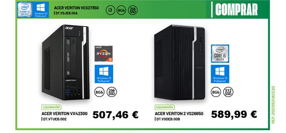 Pcs Acer Core i5 y Amd Ryzen 5